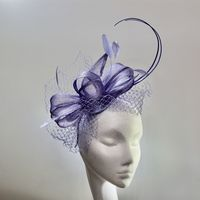 13967 Pretty Fiordaliso Purple Mother of the Bride Fascinator SD658/9